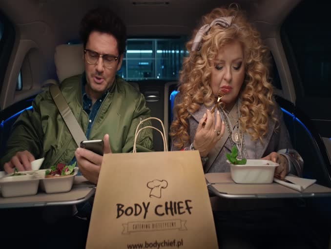 Magda Gessler i Kuba Wojewódzki reklamują catering Body Chief