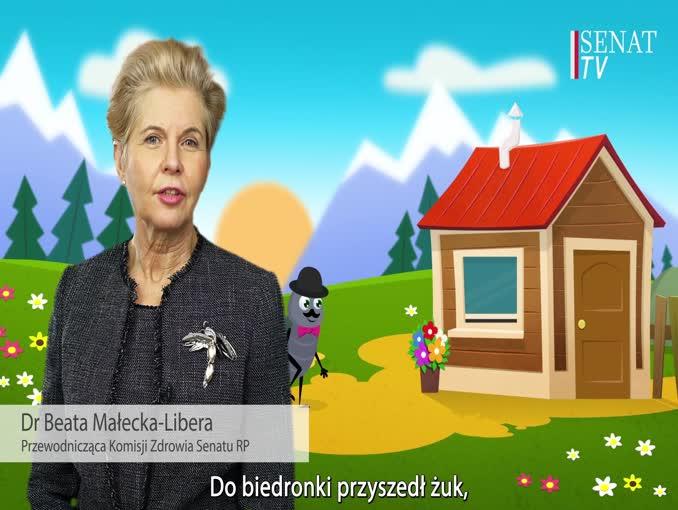 Senat animowanym spotem zachęca do szczepień