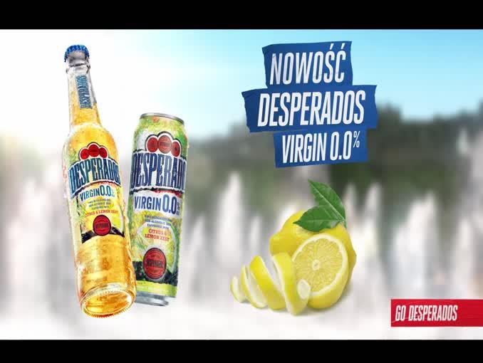 Bezalkoholowy Desperados Virgin 0.0% - reklama