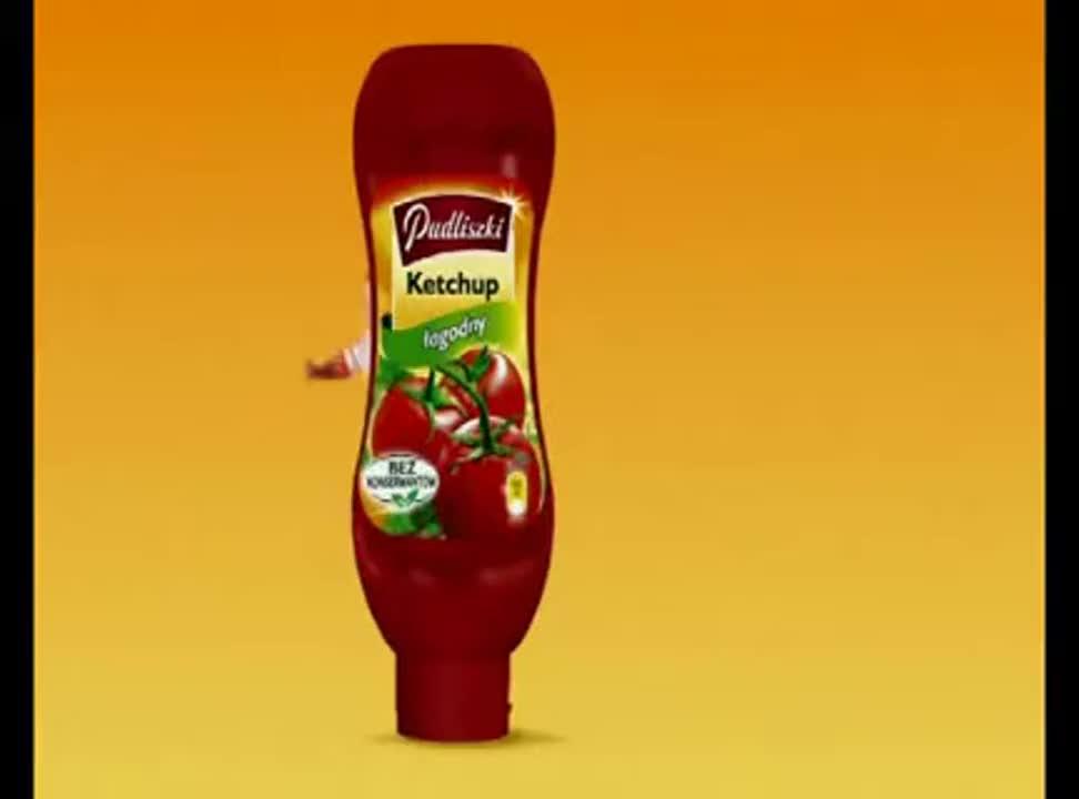 reklama ketchupu Pudliszki