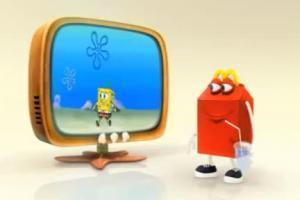 reklama zabawek SpongeBob w zestawach HappyMeal w McDonald's