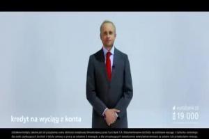 """Adamczyk """"na poważnie"""" reklamuje kredyt w eurobanku"""