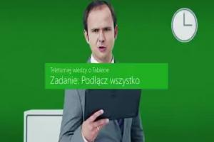 Tablet to PC - reklama Windows 8.1 z biurem