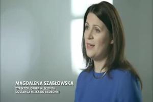 Polska żywność w Biedronce - reklama mleka