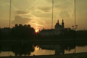 Gigantyczna flaga nad Krakowem - akcja RMF FM