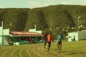 Usain Bolt biegnie na mundial w reklamie Visy