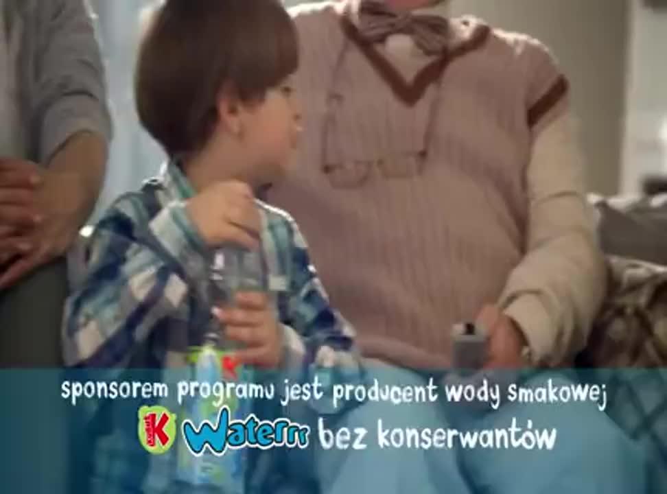 Miecio z rodziną reklamuje wodę Kubuś Waterrr