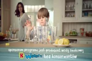 Mały Miecio nie uznaje konserwantów - reklama wody Kubuś Waterrr