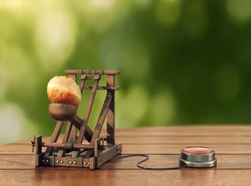 Wyrzutnia owoców reklamuje Tymbark Fruktajl