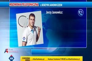 Jerzy Janowicz z fachowcem reklamuje Atlas