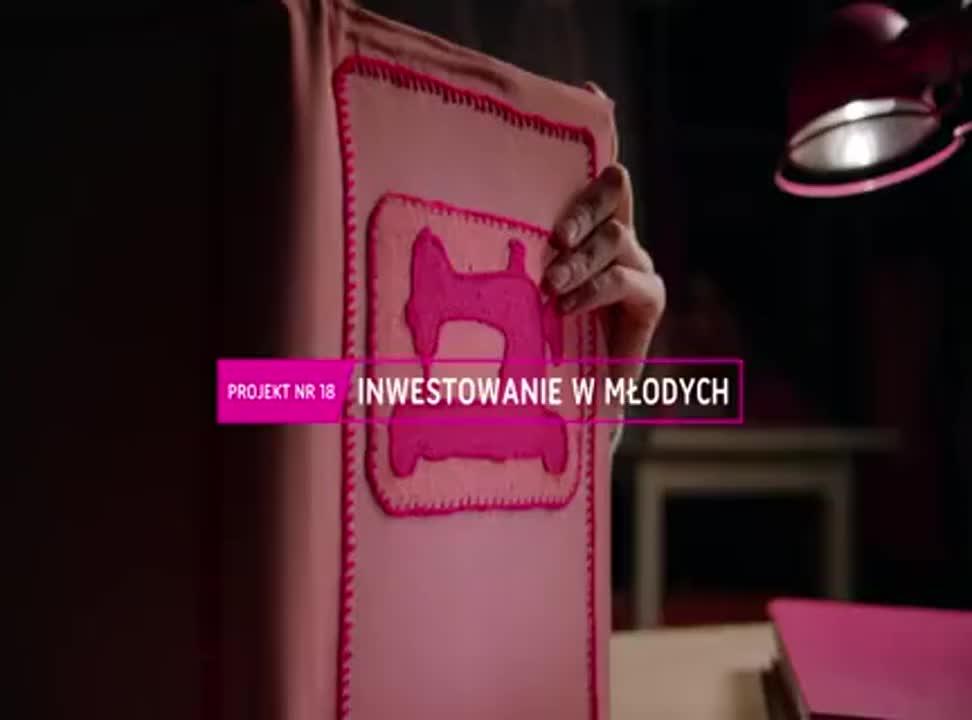 Inwestowanie w młodych - reklama Unii Europejskiej
