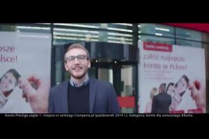 Piotr Adamczyk reklamuje konto dla każdego w eurobanku