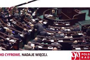 Radio cyfrowe. Nadaje więcej - reklama z Sejmem