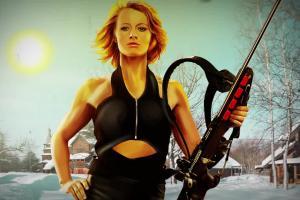 Narty Karabiny Dziewczyny - grindhouse'owy spot Eurosportu z biathlonistką