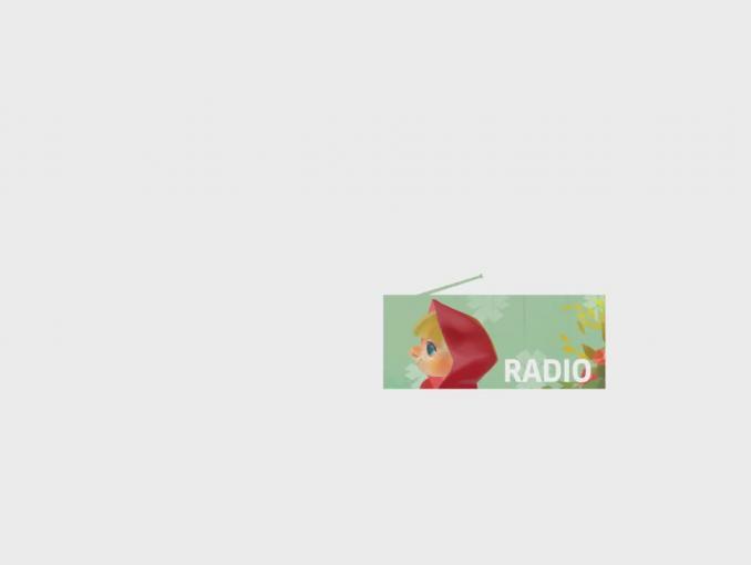 Czerwony Kapturek reklamuje cyfrowe Polskie Radio Dzieciom