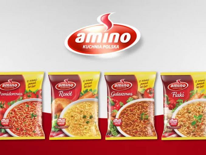 Zupy błyskawiczne Amino - spot sponsorski