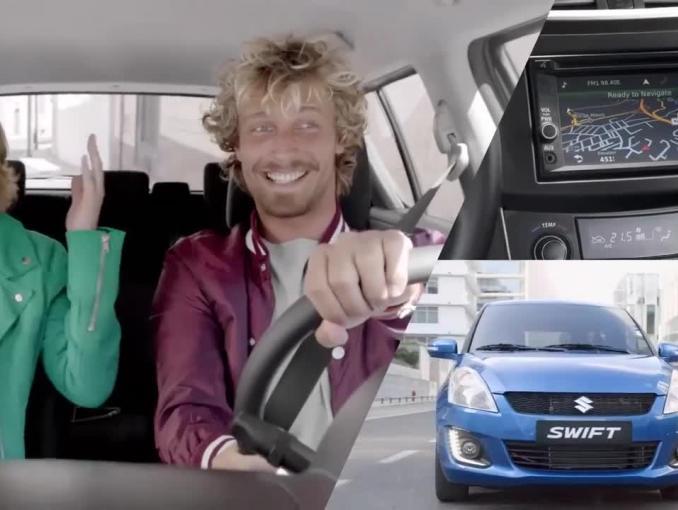 """Reklama Suzuki Swift pokazująca, że """"każdego dnia możesz więcej"""""""