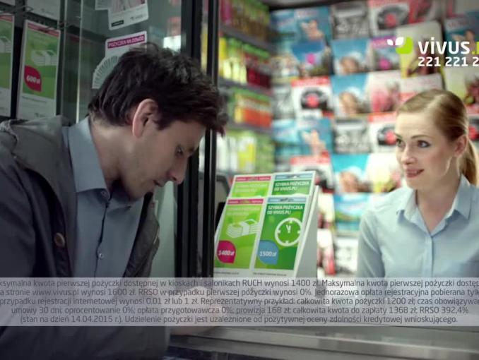 Vivus reklamuje pożyczki krótkoterminowe w kioskach Ruchu