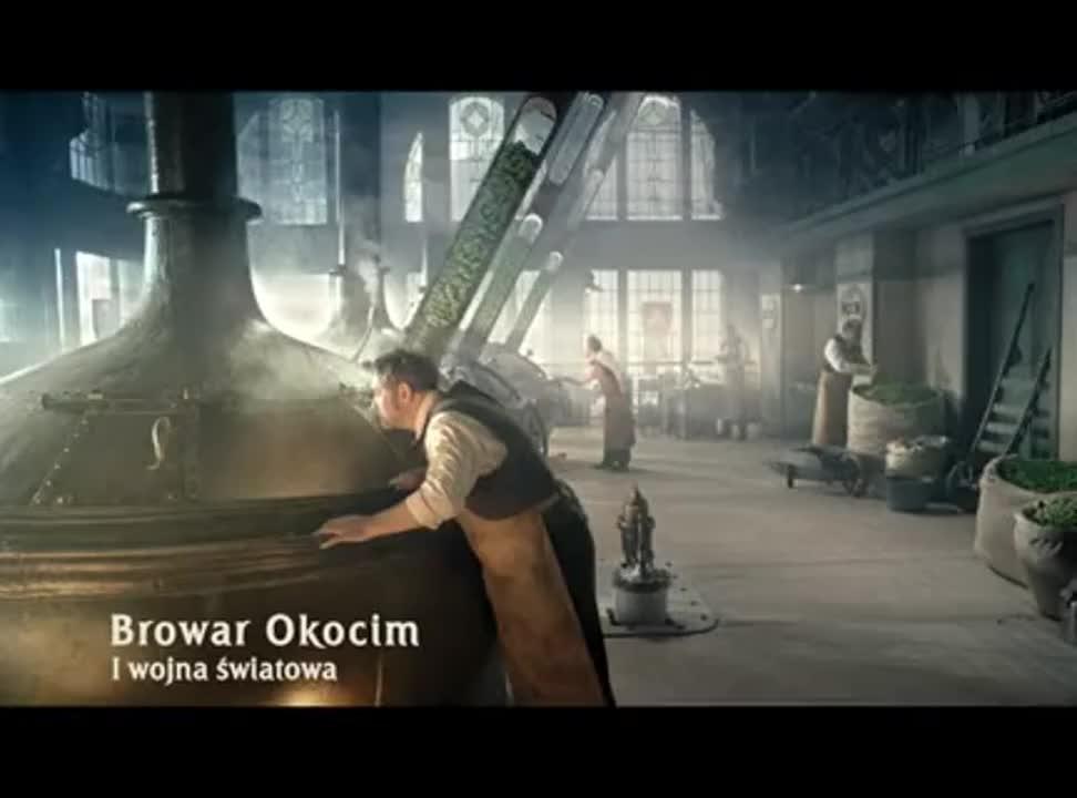 reklama Okocim Premium Pils Podwójnie Chmielone