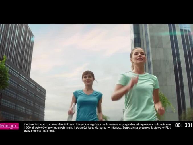 Reklama aplikacji mobilnej i Konta 360° Banku Millennium