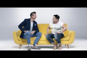 Dorota Wellman i Karol Okrasa w reklamowym talk show Lidla