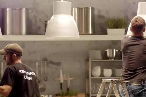 Dorota Wellman jako kucharka, a Karol Okrasa dziennikarz w reklamach Lidla - making of