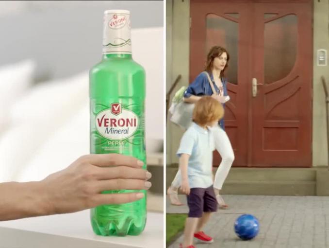 Podwójny dzień w reklamie Veroni Mineral Pure i Perle
