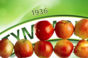 Tłoczenie jabłek z uczuciem reklamuje sok Tymbark