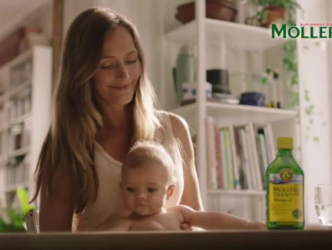 """""""Mądrzy, zdrowi i odporni"""" w reklamie tranu Möller's"""
