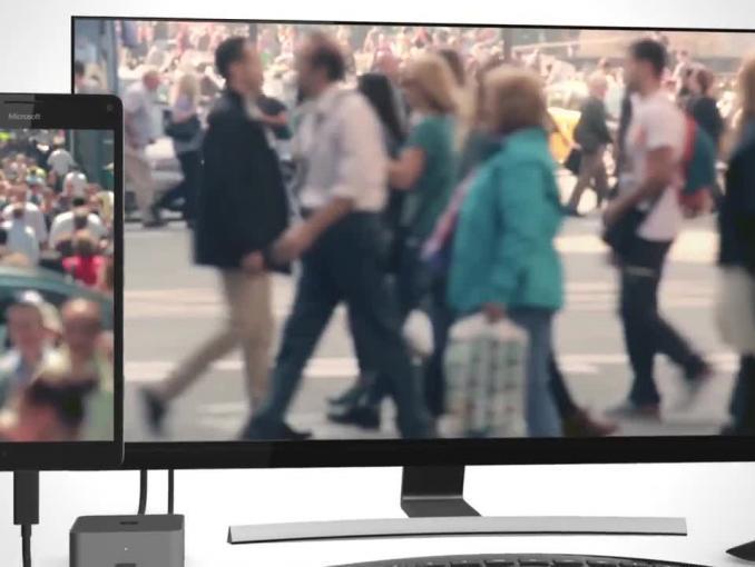 Reklama smartfonów Lumia 950 i 950 XL ze stacją dokującą HD-500