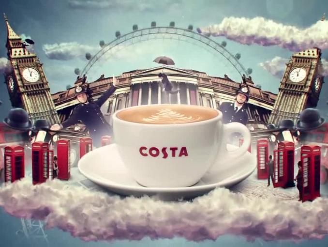 """""""Kawiarnia z serca Londynu"""" - reklama Costa Coffee"""
