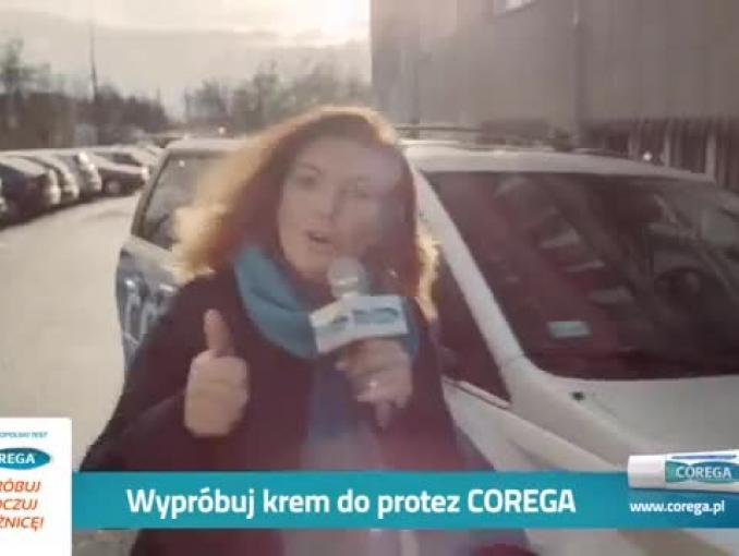 Katarzyna Dowbor promuje krem do protez Corega