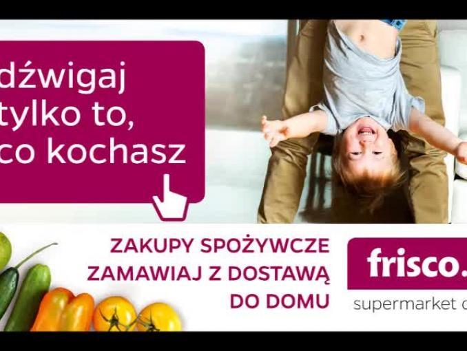 """""""Dźwigaj tylko to, co kochasz"""" - reklama Frisco.pl"""