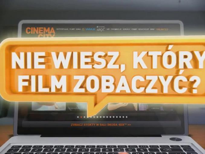 """""""Filmy bez limitu, kiedy chcesz, ile chcesz"""" - reklama Cinema City Unlimited"""
