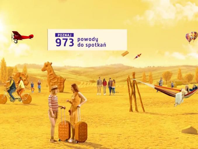 """Przekąski Lajkonik z nowym hasłem reklamowym """"Dobrze się spotkać!"""""""