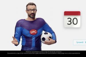 MegaTata w piłkarskich reklamach promocji Optimum TV w UPC