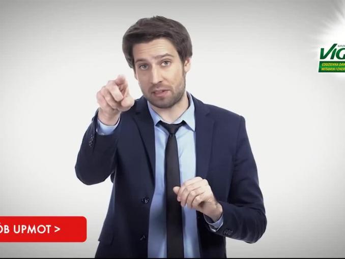 Stand-uper Michał Kempa w motywującej kampanii Vigor Up