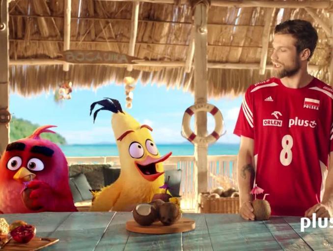 """Andrzej Wrona z """"Angry Birds"""" na Bahamach reklamuje """"Wściekłe 5 GB"""" w Plusie"""