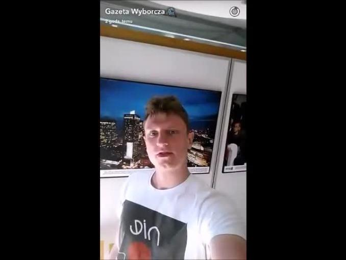 """""""Gazeta Wyborcza"""" na Snapchacie"""