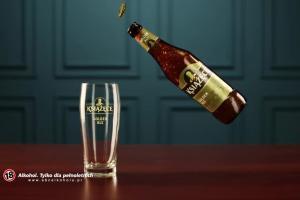 Brytyjski charakter w reklamie piwa Książęce Golden Ale