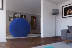 Telewizyjny jogging kulki w reklamie Netii