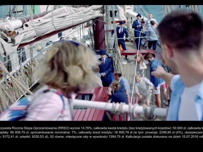 Statek pożyczkowiec dla solidnych klientów reklamuje Alior Bank