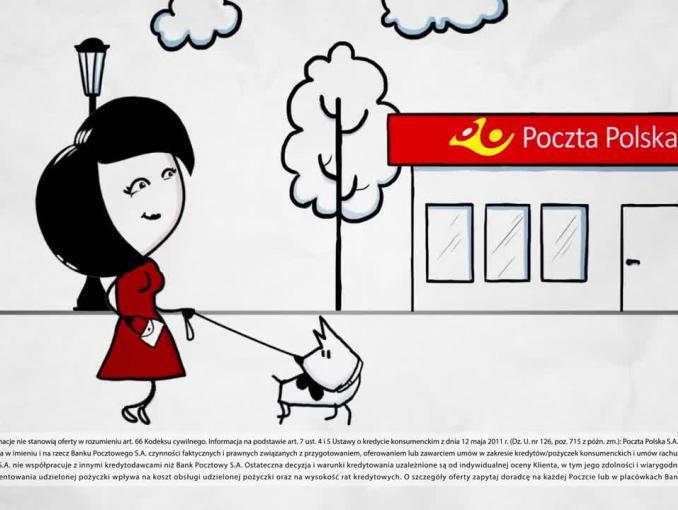 Bank Pocztowy reklamuje Pożyczkę na Poczcie na oświadczenie