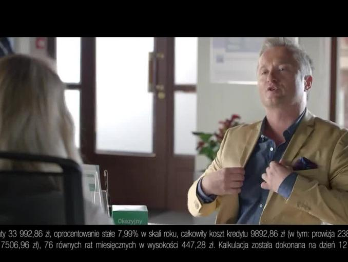 Mikołaj Cieślak z Kabaretu Moralnego Niepokoju w reklamie BGŻ BNP Paribas