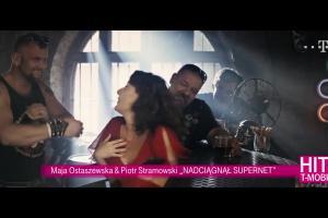 Maja Ostaszewska i Piotr Stramowski reklamują Supernet w T-Mobile Polska