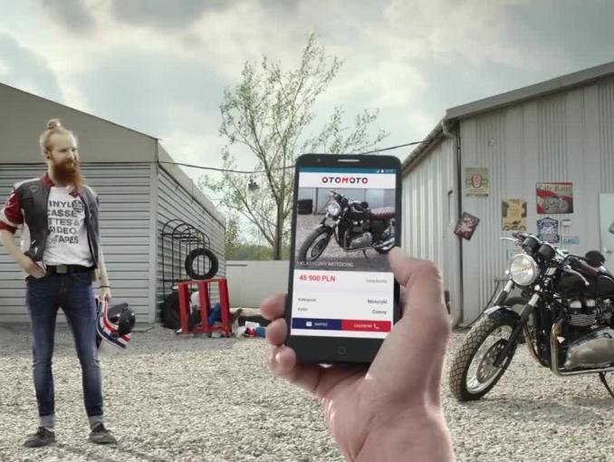 """otoMoto.pl w reklamach """"łączy kupujących i sprzedających"""""""