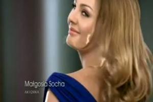 Małgorzata Socha w reklamie Rexony