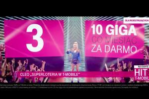 Cleo reklamuje Superloterię promującą rejestrowanie numerów w T-Mobile