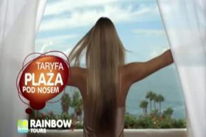 Plaża pod nosem - reklama Rainbow Tours