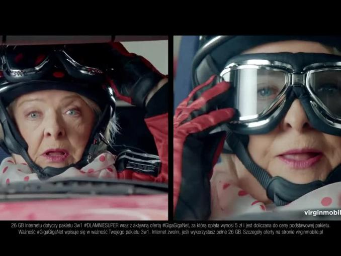 GigaGigaNet w Virgin Mobile - reklama